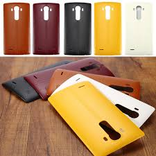 battery cover for lg g4 plastic leather