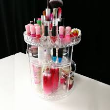 360 rotating makeup organizer diy