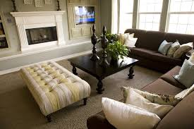 living room exles with brown couches