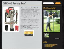Rhino Gpd 40 Fence Pro Gas Post Driver For Sale Online Ebay