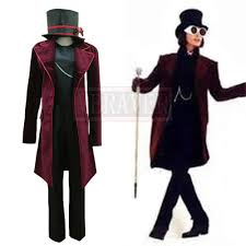 Charlie and the Chocolate Factory Johnny Depp Willy Wonka Cos Halloween  Uniform Full Set Cosplay Costume Custom Made Any Size Movie & TV costumes