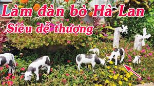 DIY] Hướng dẫn làm đàn bò sữa 🐄 | ♥ Con bò Hà Lan siêu dễ thương ...