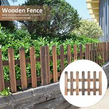 Han Wooden Picket Fences Miniature Fairy Garden Fence For Christmas Wedding Party Garden Home Decoration Shopee Philippines