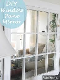 diy mirrored window pane take an old
