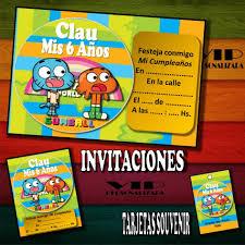 Kit Imprimible Gumball Cumpleanos Bautismos Candybar