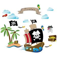 Decalmile Pirate Ship Wall Decals Kids R Buy Online In Antigua And Barbuda At Desertcart