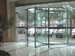glass revolving door works in dubai