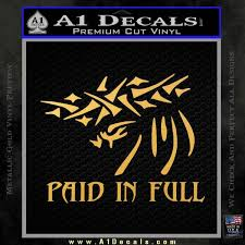 Christian Decal Sticker Paid In Full A1 Decals