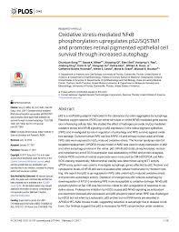 pdf oxidative stress ated nfκb