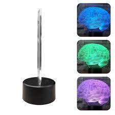 Đèn LED mô hình não bộ 3D 7 màu thay đổi điều khiển ảo ảnh quang học cảm  ứng để bàn trang trí nội thất kèm phụ kiện