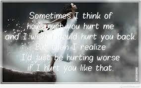 sad hurt quotes