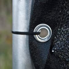Shop Aleko Outdoor Windscreen Black Fence Privacy Black Screen 8 X50 With Grommet Overstock 23040790