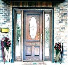 glass replacement front door