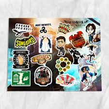 Bioshock Infinite A4 Vinyl Stickers Set Decals Ebay