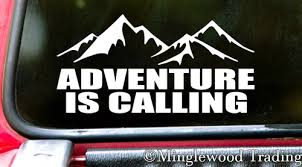 Adventure Is Calling Vinyl Decal Sticker For Car Camping Hiking Adventure Outdoors Mountains Minglewood Trading