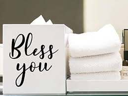 Amazon Com Story Of Home Llc Bless You Tissue Box Vinyl Decal This Is A Only A Decal Arts Crafts Sewing