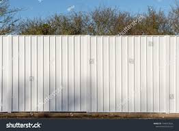 Two Panels White Metal Fence Used Parks Outdoor Stock Image 1340912624