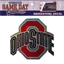 Ohio State Buckeyes Rhinestone Emblem Adhesive Vehicle Decal 5x5 Keychain For Sale Online Ebay