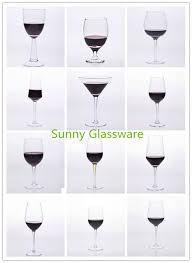wide mouth stemware wine glasses