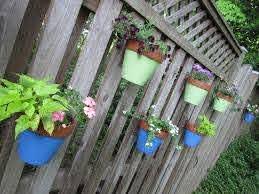 Fence Hanging Planters Fence Flower Pots Flower Pot Holders For Fence Hang A Pot
