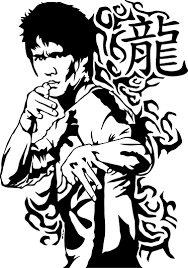 Bruce Lee Portrait Sticker Tenstickers