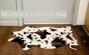 cute cow print rug fun faux cowhide