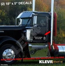 Not For Hire Private Dot Truck Driver Decal Sticker Car Vinyl Home Garden Decals Stickers Vinyl Art
