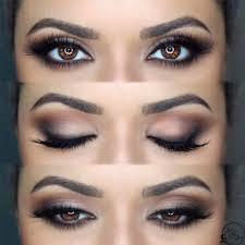 how to do cute makeup for brown eyes
