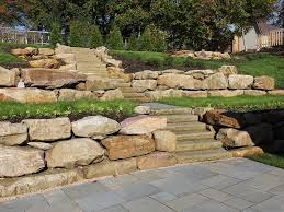 how to fix a boulder retaining wall