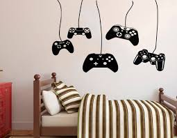 Gamer Wall Decal Video Games Wall Sticker Playstation Ps4 Etsy