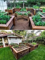 timber raised garden beds random
