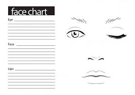 ᐈ makeup chart face stock ilrations