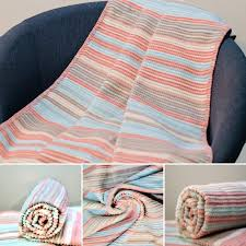 sesli baby cotton blanket pink 90