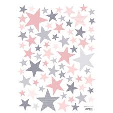 Superstar Pink And Grey Stars Wall Decal Ust Kids