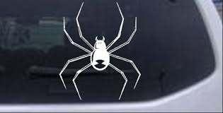 Black Widow Spider Car Or Truck Window Decal Sticker Rad Dezigns