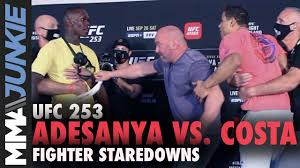 UFC 253 full fight card faceoffs - YouTube