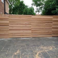 Cedar Slatted Fence Panels Modern Design In 2020 Garden Fence Panels Slatted Fence Panels Fence Panels
