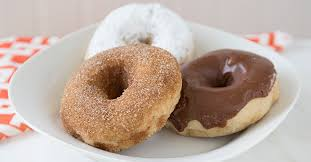 baked homemade cinnamon donuts the
