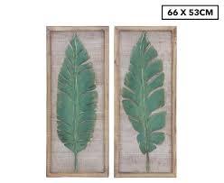 metal cheroke palm leaves wall art