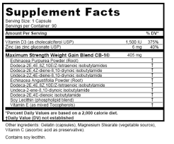 cb1 weight gainer from a supplement