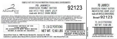 peanut er hfcs free g jelly