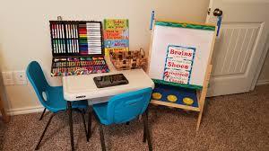How I Set Up My Kids School Station At Home Popsugar Family