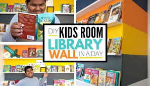 How To Make A Boys Bedroom Library Wall In A Day
