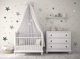 Amazon Com Star Wall Stickers Baby Wall Decal Removable Stickers Kids Wall Decal Baby Nursery Wall Decal Murals Modern Nursery Wall Decal Pick Your Color Handmade