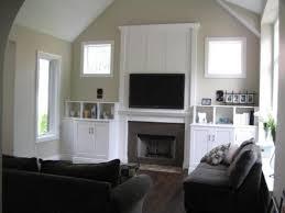flat screen tv above fireplace design