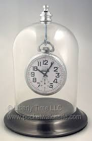 chrome plated pocket watch display dome