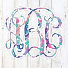 Lilly Pulitzer Monogram Decal Vine Sew Southern Designs