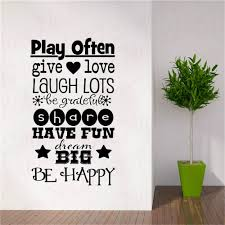 Playroom Rules Wall Decal Be Happy Dream Big Vinyl Art Stickers Wallpaper Childrens Room Decoration Decals Wl1053 Wall Stickers Aliexpress