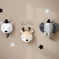 Hot Sale D4ad Kids Room Decoration 3d Animal Heads Elephant Deer Unicorn Head Wall Hanging Decor For Children Room Nursery Room Decoration Cicig Co