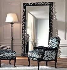 home decor metal framed floor mirror